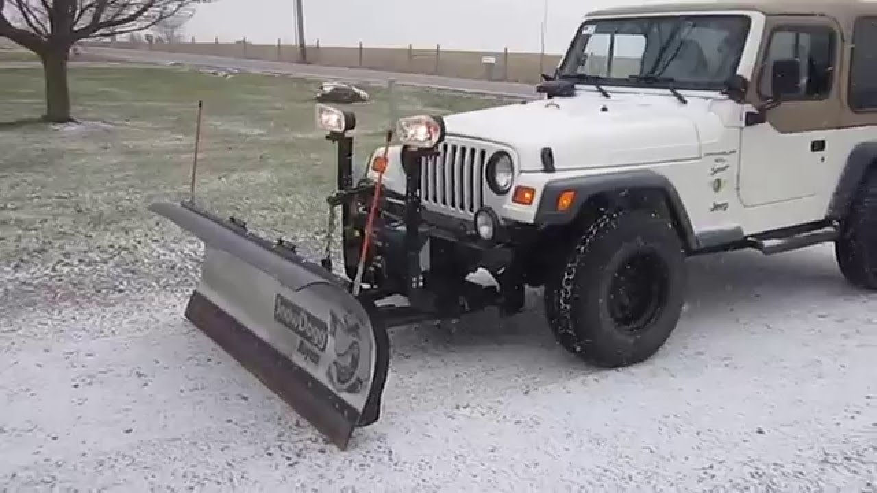 Jeep Jk For Sale >> Snow Plow For Sale for Jeep Wrangler - YouTube