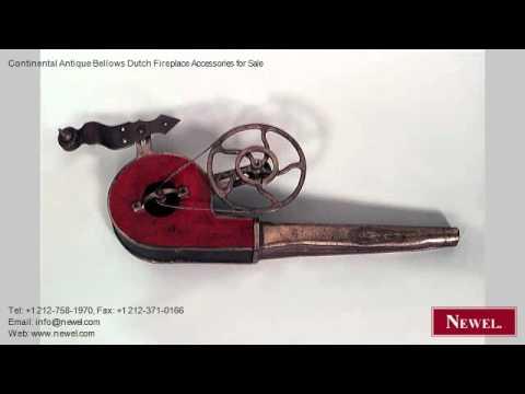 Continental Antique Bellows Dutch Fireplace Accessories