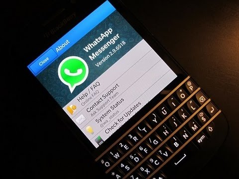 Whats App on Blackberry Q10!(Walk-through) - YouTube