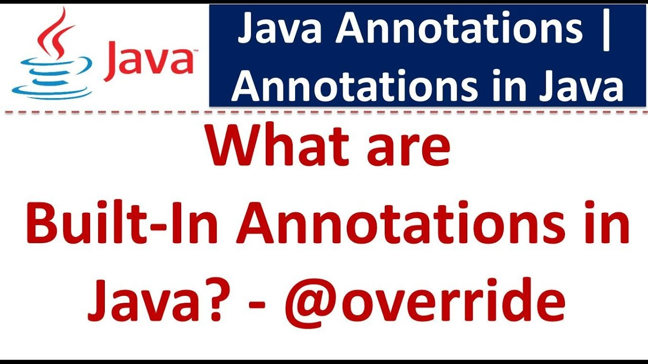 ANNOTATIONS IN JAVA PDF