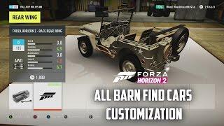 Forza Horizon 2 - All Barn Find Cars Customization!