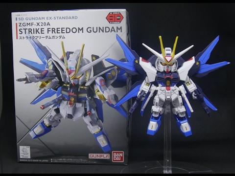 SD EX-Standard Strike Freedom Gundam Time-lapse Build