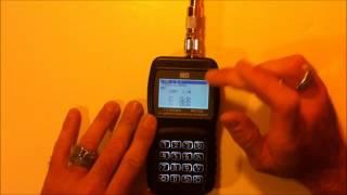 MFJ-226 Graphical impedance antenna analyzer review demo