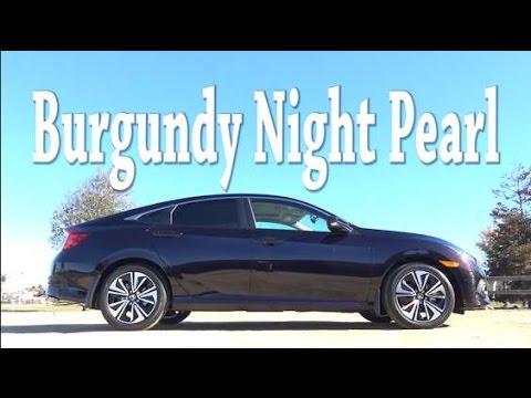 2016 Honda Civic Colors Burgundy Night Pearl  YouTube