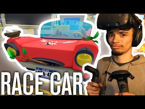 """FIXING"" A RACE CAR! | Job Simulator (Mechanic) HTC VIVE Gameplay"