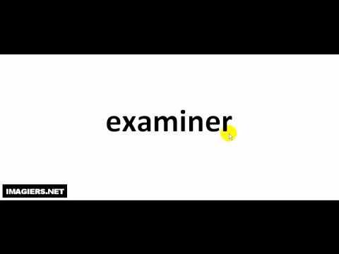 Как произносится  # examiner