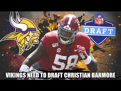 Alabama DT Christian Barmore Would Solve the Minnesota Vikings Defensive Interior Problems 💯💯💯