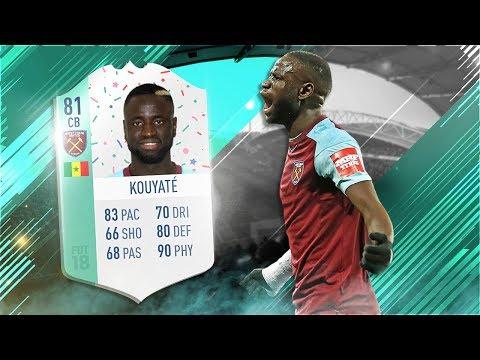 FIFA 18 FUT Birthday Kouyate Review 🎉🎂 81 FUT Birthday Cheikhou Kouyate Player Review