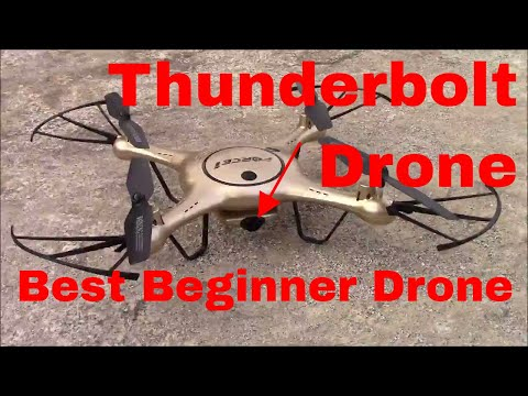 Thunderbolt Wi-Fi FPV HD Camera Drone Review | Best Beginner Quadcopter X5UW
