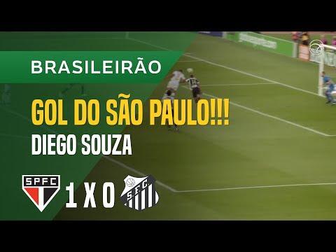 GOL (DIEGO SOUZA) - SÃO PAULO X SANTOS - 20/05 - BRASILEIRÃO 2018