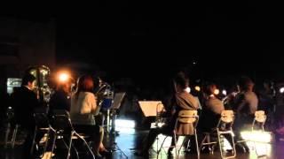 一日市盆踊りの前夜祭での演奏。
