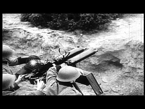 Montage of Swedish military preparedness activities in World War II. HD Stock Footage