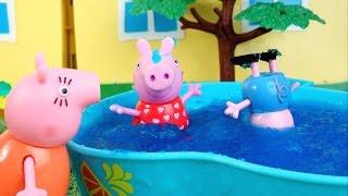 pig george da famlia peppa pig mergulhando na piscina com meleca completo em portugues