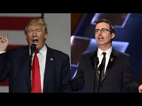 John Oliver brands Trump 'conspiracy theorist'