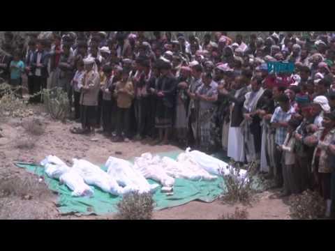 Funeral for civilian victims of Decisive Storm in Yemen