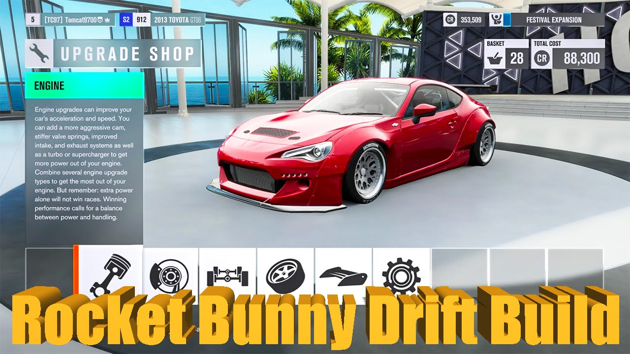 Forza Horizon Rocket Bunny Frs Drift Build Youtube