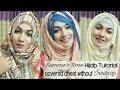 Easy 3 Hijab Style for Summer with Covered chest   Pari ZaaD ❤
