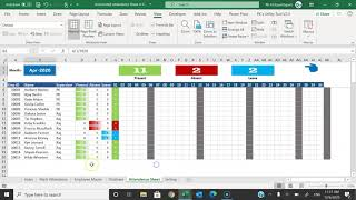 Automated Attendance Sheet In Excel