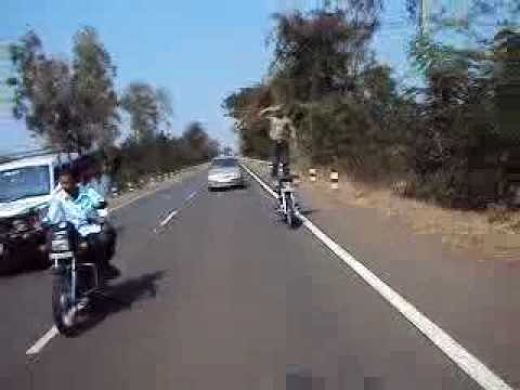 Humnabad Road On Stunt Bhalki Om, Intel Internet   Districit, Karnataka, India.flv