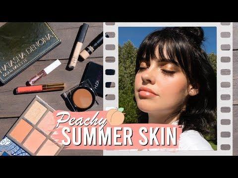PEACHY SUMMER SKIN 🍑  Fresh, Glowy & Natural   Julia Adams thumbnail