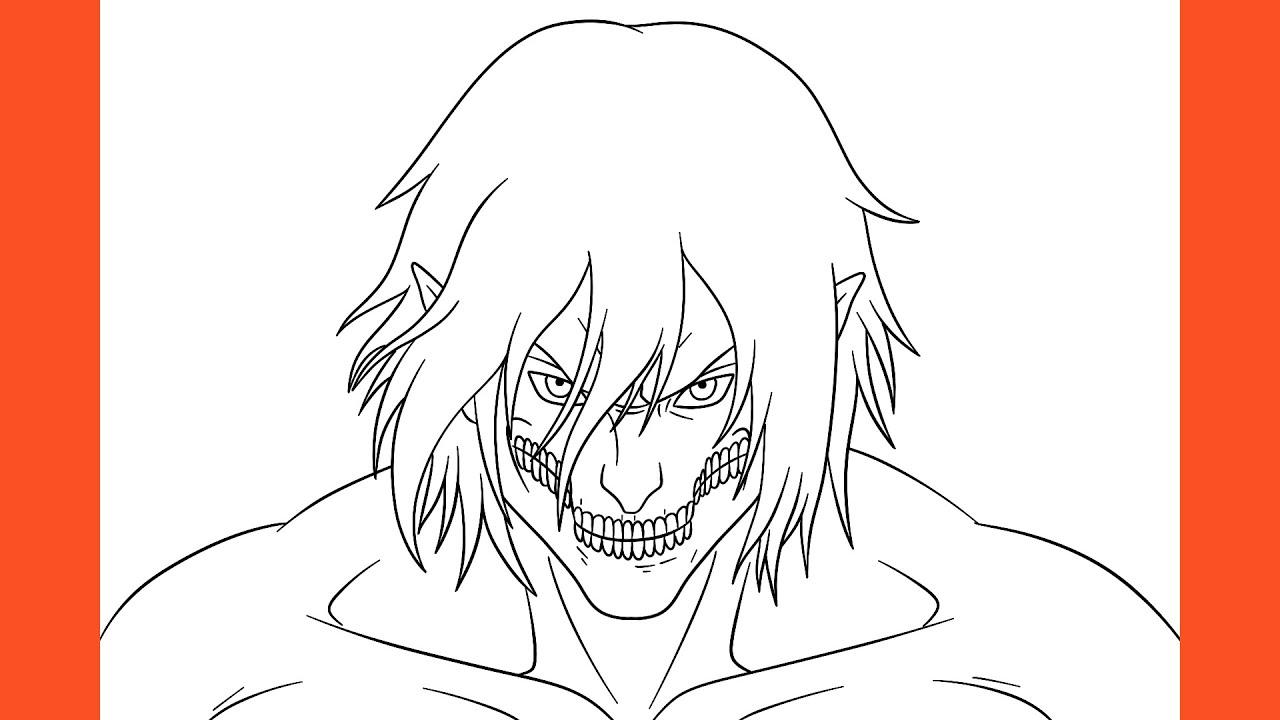 eren titan form easy drawing How To Draw Eren Titan Form (Attack On Titan)