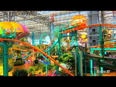 Tour of the Largest Indoor Theme Park in America - Mall of A