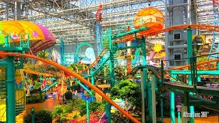 Tour of the Largest Indoor Theme Park in America - Mall of America - Nickelodeon Universe