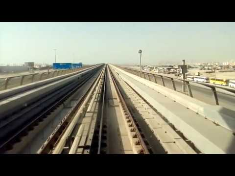 Dubai metro - red line - driver's view - Danube to Energy