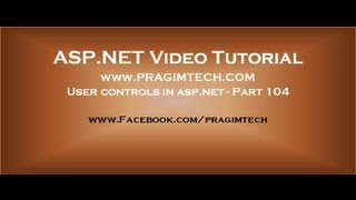 User controls in asp net   Part 104