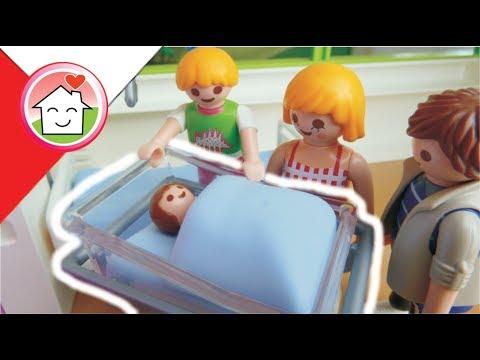 Playmobil po polsku Narodziny Ania -  Rodziną Hauserów