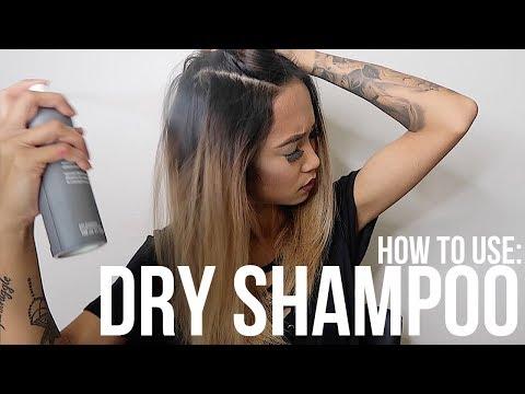 HOW TO USE DRY SHAMPOO CORRECTLY!