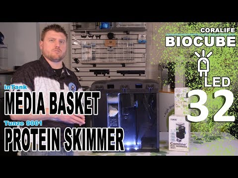 Installing Tunze 9001 & InTank Media Basket In Coralife LED BioCube 32 & 29