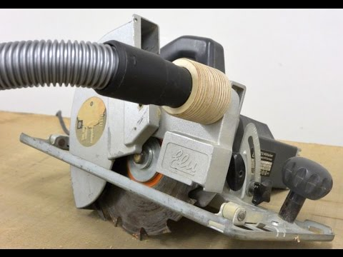 Circular Saw Dust Collection Adaptor (Shop Safety Improvement!)