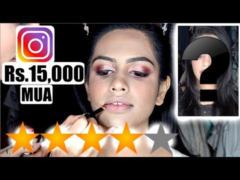 BEST REVIEWED INSTAGRAM CELEBRITY MAKEUP ARTIST |  CHARGED Rs.15,000 thumbnail