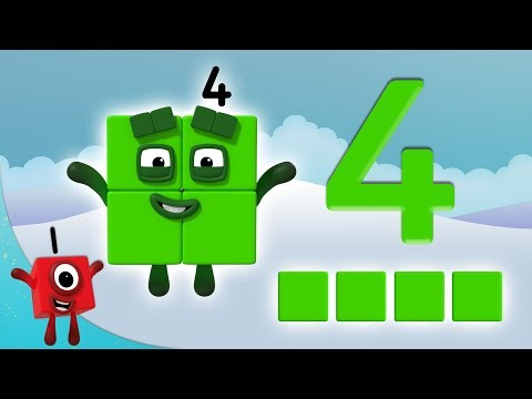 Numberblocks - The Number 4 | Learn to Count | Learning Blocks