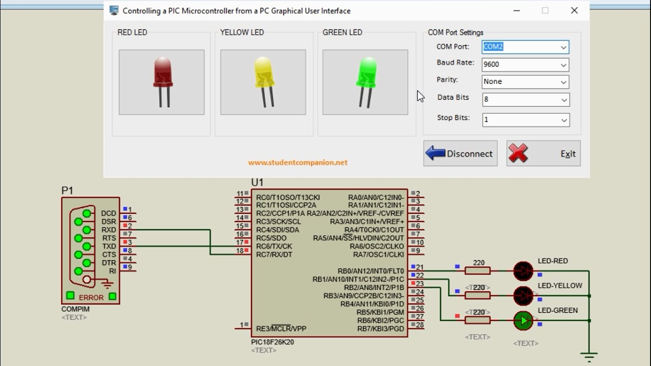 How to Control a PIC Microcontroller from a PC GUI | StudentCompanion