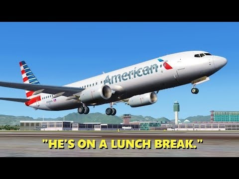 "When ATC takes a ""Lunch Break"" in Flight Simulator X (Multiplayer)"