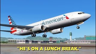"When ATC takes a ""Lunch Break"" in Flight Simulator X (Multiplayer)"