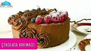 ÇİKOLATALI YAŞPASTA (lezzetli sabit bir Kremadir tüm pastalarda kullanabilirsiniz)▪Masmavi3mutfakta▪