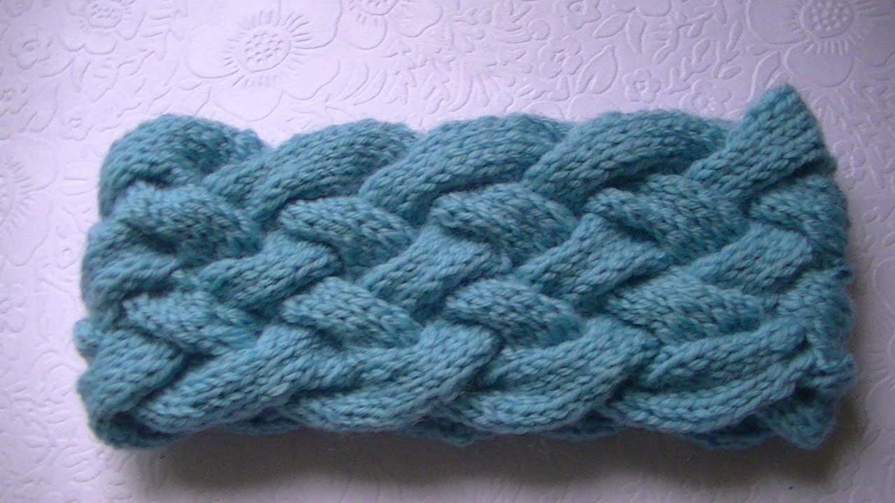 повязка спицами плетенка