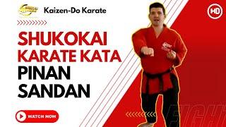 Shukokai Karate Kata - Pinan Sandan