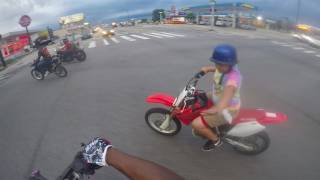 12 year old wheelies a Wr250r & Scrapes the Fender