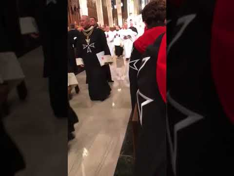 Order of Malta - Close of Mass of Investiture @ St. Patrick's Cathedral 11/3/17