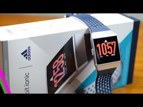 af6dd58bf1e5 Fitbit Ionic Adidas Sport Edition Unboxing   First Look - YouTube