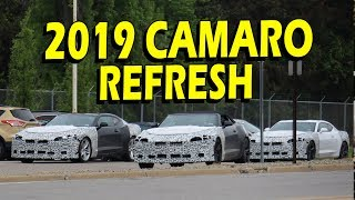 2019 camaro fleet spotted! zl1, ss, lt and convertible - refresh is coming!