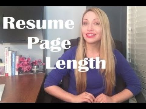 Resume Tip Of The Week Resume Page Length - YouTube