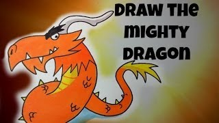 How To Draw The Mighty Dragon (Angry Birds)