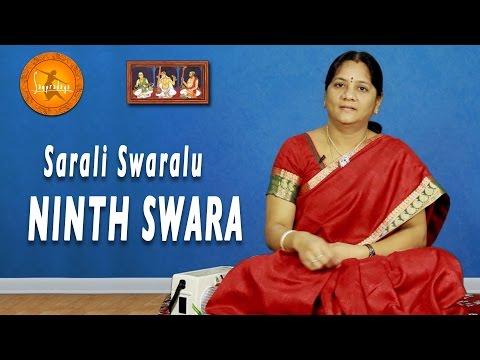 Sarali Swaras - Ninth Swara || Learn Carnatic Classical Music from Smt. Balarka J || Sampradaya