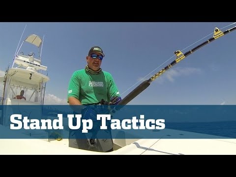 Big Game Fishing; Stand Up Fish Fighting Techniques - Florida Sport Fishing TV