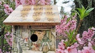 Decoupage A Birdhouse Anton Pieck Print